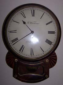 "English Fusee 12"" Convex Drop Dial Clock by R Woodrow Norwich"